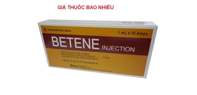 Thuốc betene 4ml là thuốc gì? có tác dụng gì? giá bao nhiêu tiền?