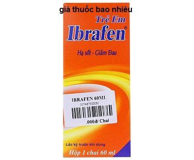 Thuốc ibrafen 60ml là thuốc gì? có tác dụng gì? giá bao nhiêu tiền?
