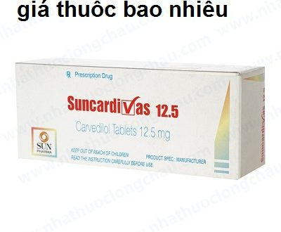 Thuốc suncardivas 12.5 là thuốc gì? có tác dụng gì? giá bao nhiêu tiền?