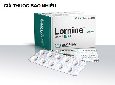 Thuốc lornine 10 là thuốc gì? có tác dụng gì? giá bao nhiêu tiền?