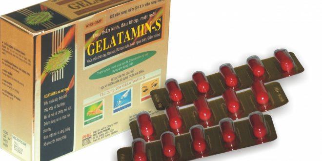 Thuốc gelatamin-s là thuốc gì? có tác dụng gì? giá bao nhiêu tiền?
