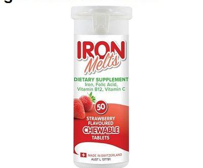 Viên sắt iron melts 50 chewable tablets là thuốc gì? có tác dụng gì? giá bao nhiêu tiền?