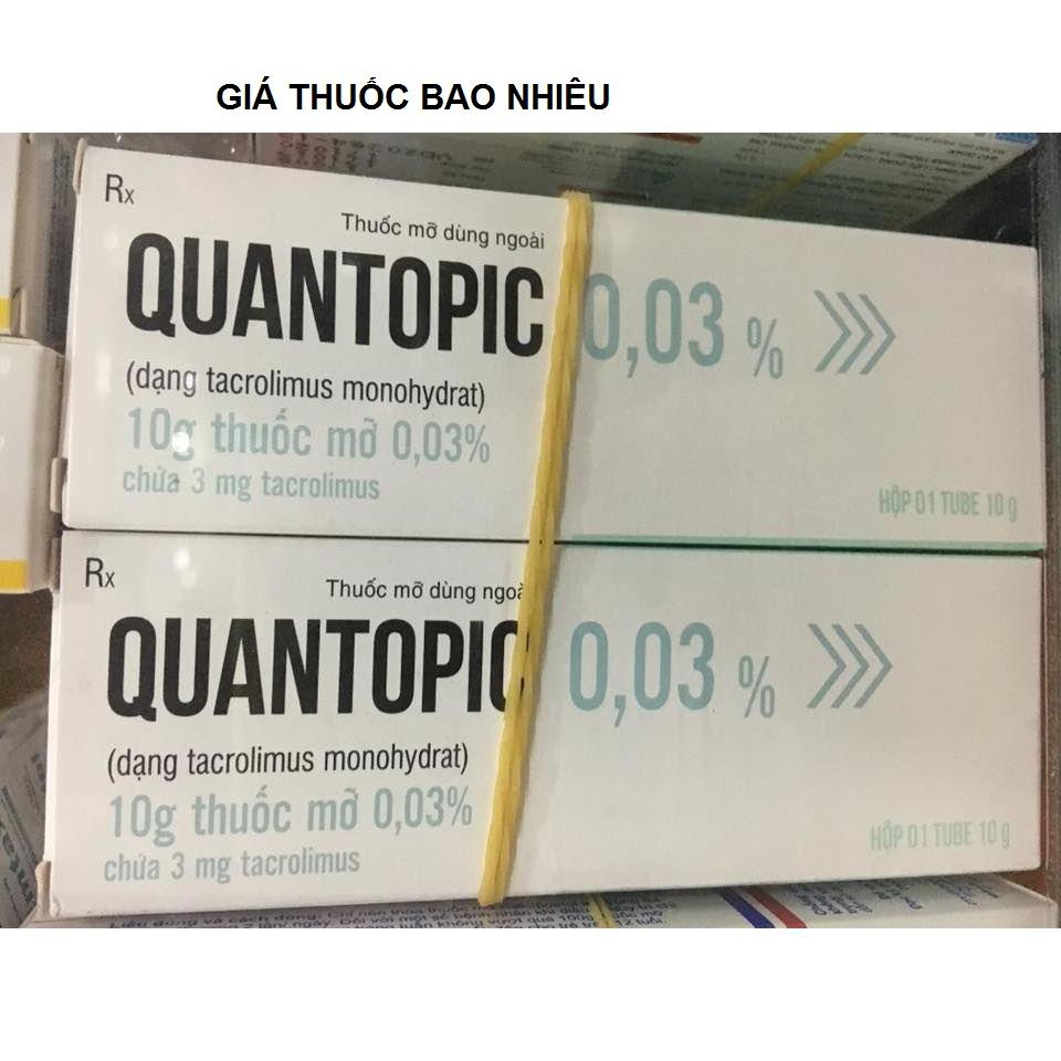 Thuốc quantopic 0.03% là thuốc gì? có tác dụng gì? giá bao nhiêu tiền?