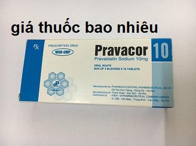Thuốc pravacor 10 là thuốc gì? có tác dụng gì? giá bao nhiêu tiền?