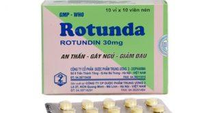 Thuốc rotunda 30mg tw2 là thuốc gì? có tác dụng gì? giá bao nhiêu tiền?