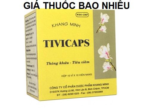 Thuốc tivicaps là thuốc gì? có tác dụng gì? giá bao nhiêu tiền?