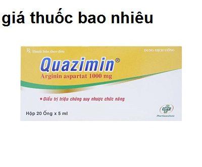 Thuốc quazimin 1000mg/5ml là thuốc gì? có tác dụng gì? giá bao nhiêu tiền?