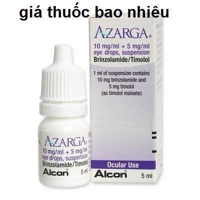 Thuốc azarga 5ml là thuốc gì? có tác dụng gì? giá bao nhiêu tiền?