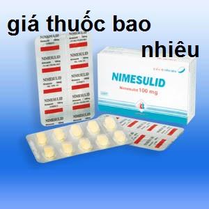 Thuốc nimesulid 100 là thuốc gì? có tác dụng gì? giá bao nhiêu tiền?