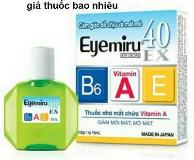 Thuốc eyemiru 40ex 15ml là thuốc gì? có tác dụng gì? giá bao nhiêu tiền?