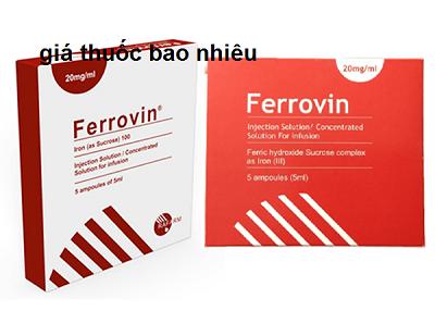 Thuốc ferrovin 100mg/5ml là thuốc gì? có tác dụng gì? giá bao nhiêu tiền?