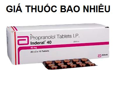Thuốc inderal 40 là thuốc gì? có tác dụng gì? giá bao nhiêu tiền?