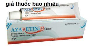 Thuốc Azaretin - H Cream 20g là thuốc gì? có tác dụng gì? giá bao nhiêu tiền?