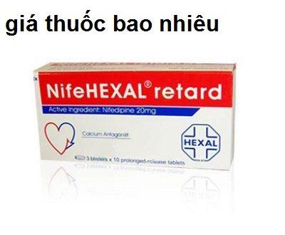 Thuốc Nifehexal retard 20 là thuốc gì? có tác dụng gì? giá bao nhiêu tiền?