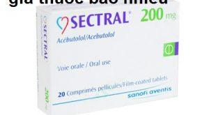 Thuốc sectral 200 là thuốc gì? có tác dụng gì? giá bao nhiêu tiền?