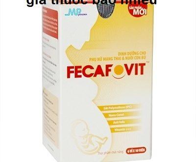 Thuốc fecafovit là thuốc gì? có tác dụng gì? giá bao nhiêu tiền?