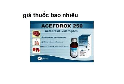 Thuốc Acefdrox 250mg là thuốc gì? có tác dụng gì? giá bao nhiêu tiền?