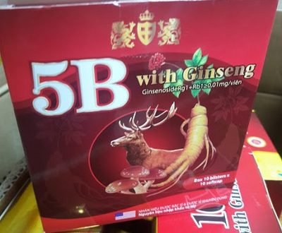 Thuốc vitamin 5b with Ginseng là thuốc gì? có tác dụng gì? giá bao nhiêu tiền?