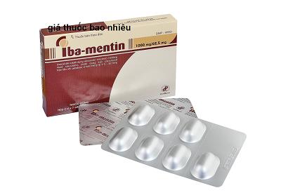 Thuốc iba mentin 1000mg/62,5mg là thuốc gì? có tác dụng gì? giá bao nhiêu tiền?