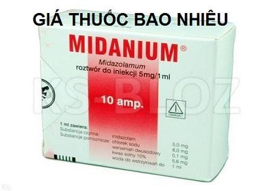 Thuốc midanium 5mg/ml là thuốc gì? có tác dụng gì? giá bao nhiêu tiền?