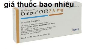 Thuốc concor cor 2.5mg là thuốc gì? có tác dụng gì? giá bao nhiêu tiền?