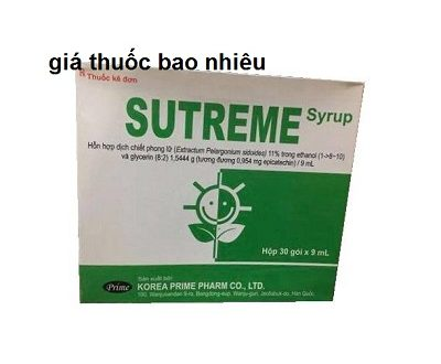 Thuốc Sutreme Syrup 9ml là thuốc gì? có tác dụng gì? giá bao nhiêu tiền?