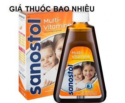 Thuốc Multi Vitamin Sanostol 230ml là thuốc gì? có tác dụng gì? giá bao nhiêu tiền?