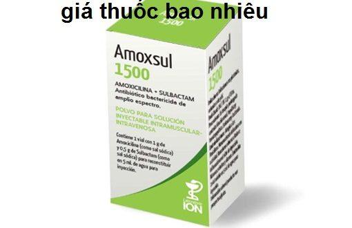 Thuốc Amox-sul 1,5g là thuốc gì? có tác dụng gì? giá bao nhiêu tiền?