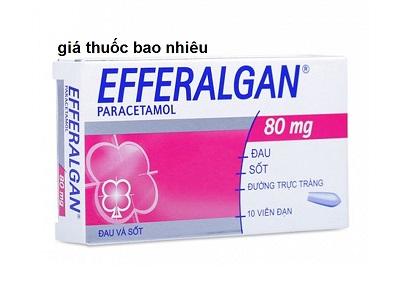 Thuốc Efferalgan 80mg Suppo là thuốc gì? có tác dụng gì? giá bao nhiêu tiền?