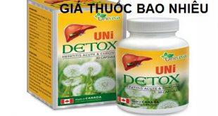 Thuốc UniDetox là thuốc gì? có tác dụng gì? giá bao nhiêu tiền?