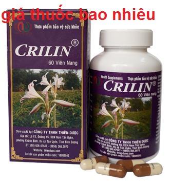 Thuốc crilin là thuốc gì? có tác dụng gì? giá bao nhiêu tiền?