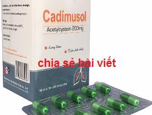 Thuốc cadimusol 200 là thuốc gì? có tác dụng gì? giá bao nhiêu tiền?