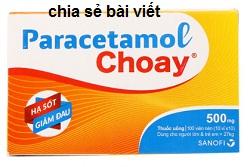 Thuốc Parachoay là thuốc gì? có tác dụng gì? giá bao nhiêu tiền?
