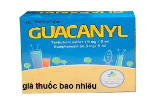 Thuốc Guacanyl 5ml là thuốc gì? có tác dụng gì? giá bao nhiêu tiền?