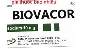 Thuốc Biovacor 10 là thuốc gì? có tác dụng gì? giá bao nhiêu tiền?
