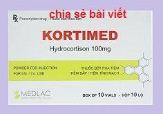 Thuốc kortimed 100 là thuốc gì? có tác dụng gì? giá bao nhiêu tiền?