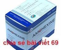 Thuốc Amohexine 500 là thuốc gì? có tác dụng gì? giá bao nhiêu?