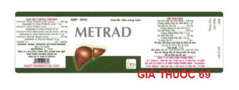 Thuốc Metrad là thuốc gì? có tác dụng gì? giá bao nhiêu?