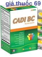 Thuốc Cadi BC là thuốc gì? có tác dụng gì? giá bao nhiêu?