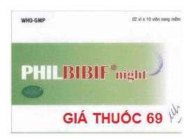 Thuốc Philbibif night là thuốc gì? có tác dụng gì? giá bao nhiêu?