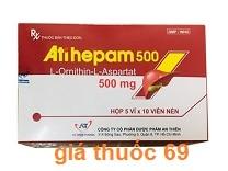 Thuốc Atihepam 500 là thuốc gì? có tác dụng gì? giá bao nhiêu?