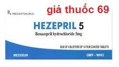 Thuốc Hezepril 5mg là thuốc gì? có tác dụng gì? giá bao nhiêu?