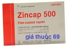 Thuốc Zincap 500 là thuốc gì? có tác dụng gì? giá bao nhiêu?