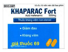 Thuốc Khaparac fort là thuốc gì? có tác dụng gì? giá bao nhiêu?